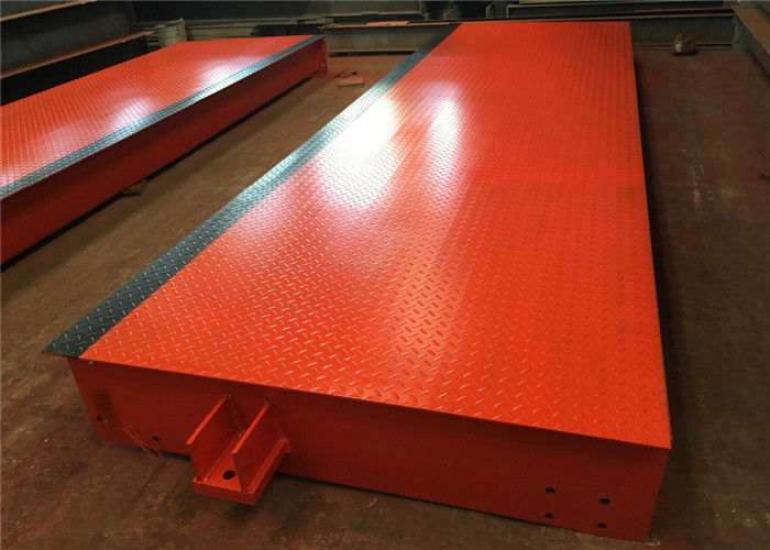 20t - 200t Capacity Portable Weighbridge U Shape Beam Structure 10-12mm Plate Thickness